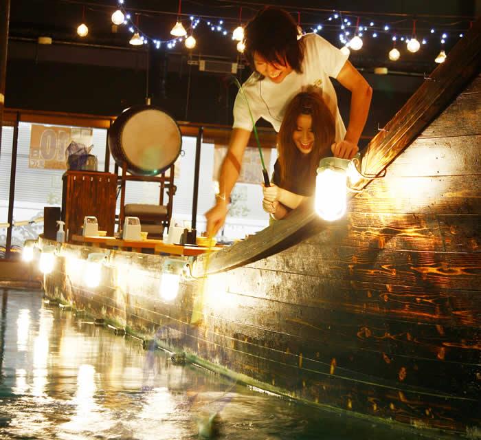 雨などでイベント事が中止になっても「ざうお」なら大丈夫!夢中になっちゃう釣りと、美味しい食事で家族も恋人も友達も大満足!